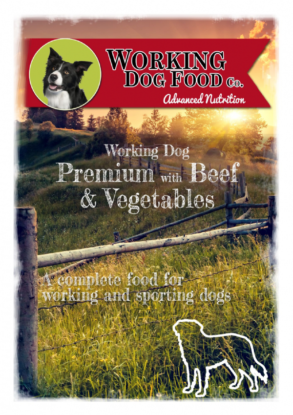 Working Dog Dinner with Beef & Vegetables Dry Dog Food